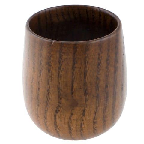 "Tableware Milk Coffee Wine Water Wooden Drinking Cup Mug Brown 130ml - 2.4""x2.8""x3.1""(Top.D*Bottom.D*H)"