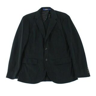Polo Ralph Lauren NEW Black Mens Size Large L Knit Two Button Blazer