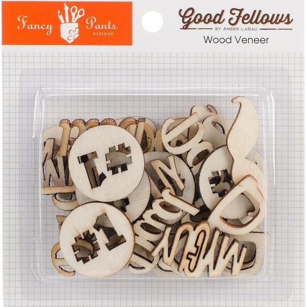 Good Fellows Wood Veneer Embellishments-Words & Shapes