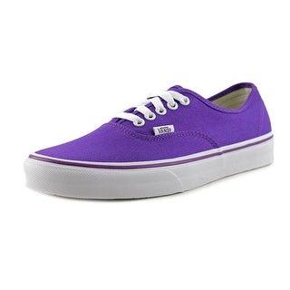 Vans Authentic Women Round Toe Canvas Purple Skate Shoe