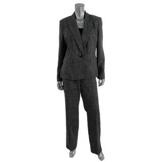 Le Suit Womens Peak Collar Woven Pant Suit - 8