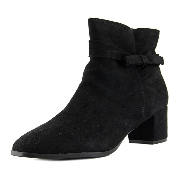Impo Eman Women Round Toe Suede Black Ankle Boot