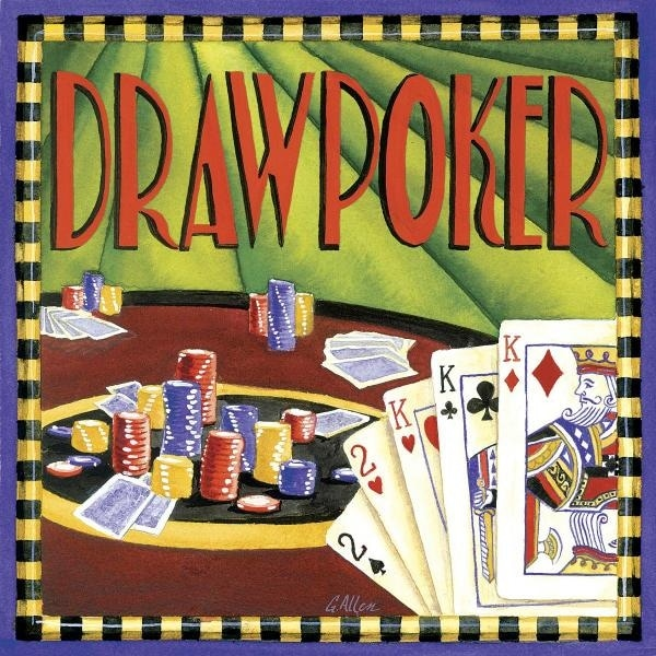 Shop Draw Poker By Geoff Allen Gambling Art Print Free Shipping On