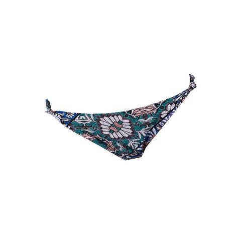 O'Neill Green Multi Topanga Printed Strappy Knotted Hipster Bikini Bottom XL