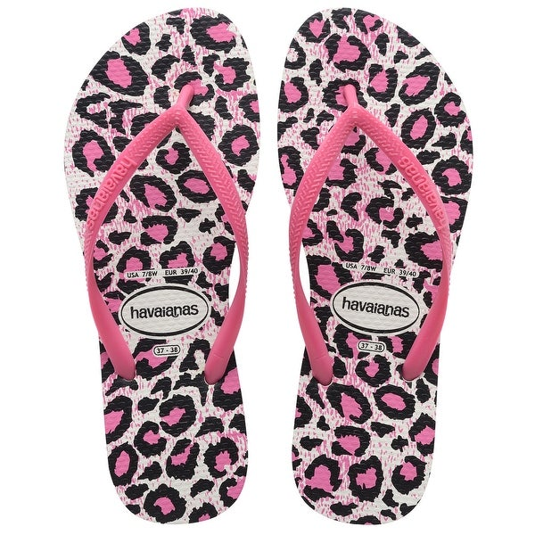 Havaianas Womens Slim Animals Fluo Open Toe Casual - 11/12