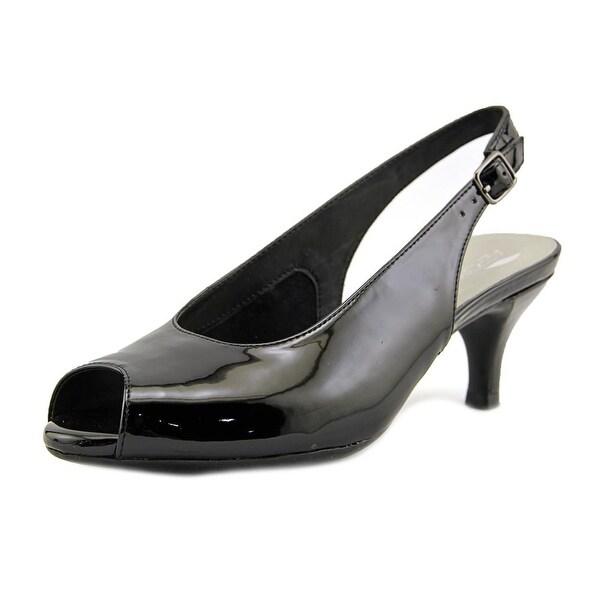 Aerosoles Escapade Women Peep-Toe Patent Leather Slingback Heel