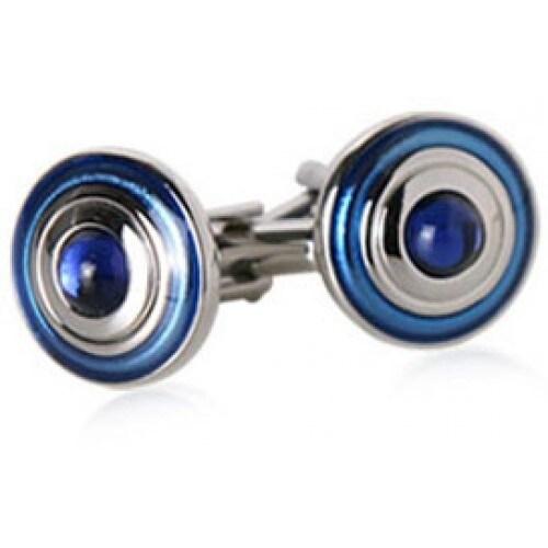 Hypotic Blue Circles Cufflinks