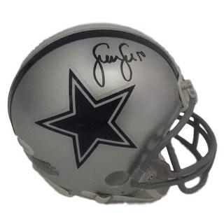 Sean Lee Autographed Dallas Cowboys Riddell Mini Helmet in Black JSA