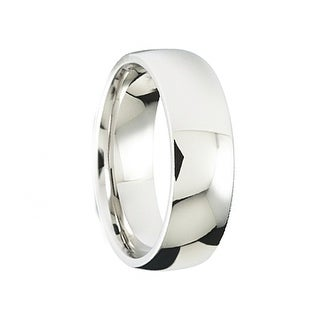 Men's Polished Cobalt Comfort-Fit Wedding Band by Crown Ring - 7mm