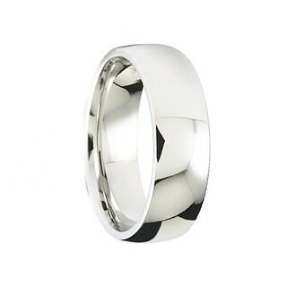 Men's Polished Cobalt Comfort-Fit Wedding Band by Crown Ring - 7mm