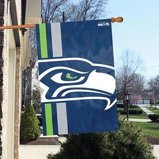 Party Animal Seattle Seahawks Bold Logo Banner Nfl Flag