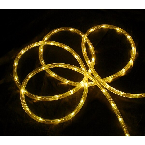official photos 68500 f4300 18' Yellow LED Indoor/Outdoor Christmas Rope Lights - 2