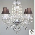 Swarovski Crystal Trimmed Chandelier Lighting Murano Venetian Style All Crystal Chandelier Lighting - Thumbnail 0