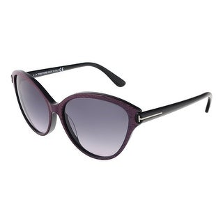 Tom Ford FT0342/S 83F Priscila Pink/Blue Stripe Cateye Sunglasses - pink/blue stripe