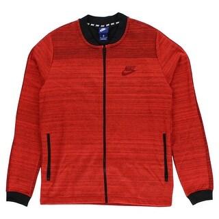 Nike Mens Sportswear AV15 Knit Jacket Heather Red - heather red/black