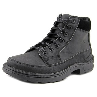 Hush Puppies 6' HPP Boot ESD Soft Toe SR Men Round Toe Leather Black Boot
