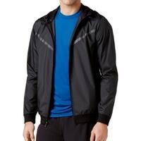 Ideology Black Mens Size Large L Water-Resistant Windbreaker Jacket