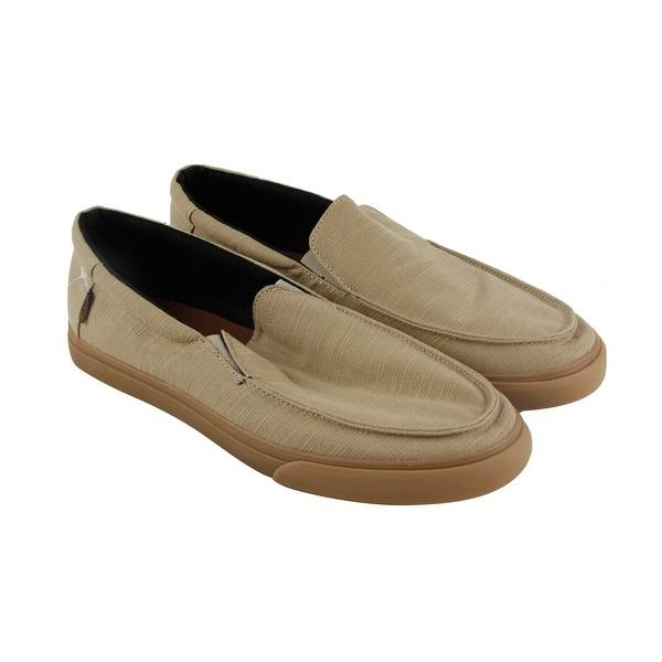Vans Bali Sf Mens Tan Canvas Casual Dress Slip On Loafers Shoes
