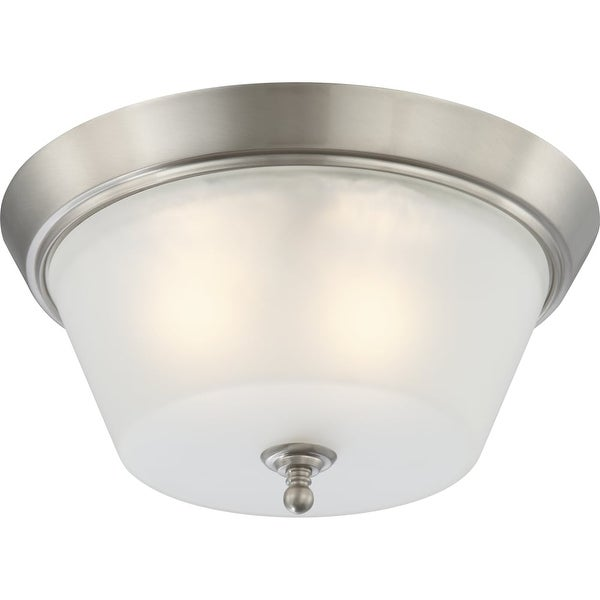 "Nuvo Lighting 60/4153 Surrey 3-Light 15-1/2"" Wide Flush Mount Ceiling Fixture - Brushed nickel"