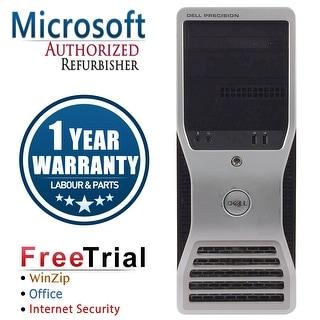 Refurbished Dell Precision T5500 Tower Xeon E5520 x2 2.26G 8G DDR3 750G DVD NVS290 Win 7 Pro 64 Bits 1 Year Warranty - Black