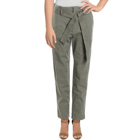 O'Neill Womens Dillon Pants Belted Cuffed - Olive - XS