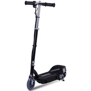 Gymax Foldable Rechargeable Electric Scooter Motorized Ride On Outdoor For Teens Black