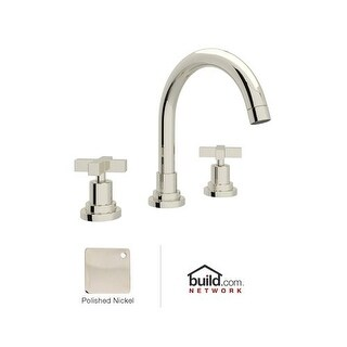 Rohl A2228XM-2 Lombardia Bath Widespread Bathroom Faucet includes Brass Pop-Up D