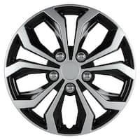 Pilot Automotive Black/ Silver 14/ 15-inch Spyder Performance Hub Cap Full Lug Skin with 2-oz Purple Slice Wheel Covers