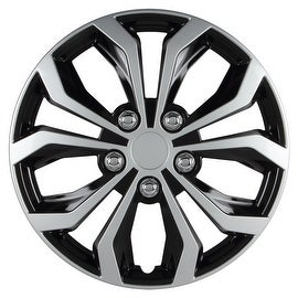 Pilot Automotive WH553-16S-BS Black/ Silver 16-inch Two Tone Spyder Performance Wheel Cover (Pack of 4)