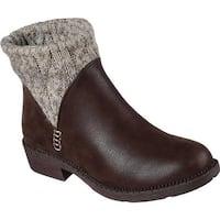 Skechers Women's Elm Ankle Boot Chocolate