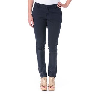 Each x Other Womens Faux Leather Flat Front Skinny Pants