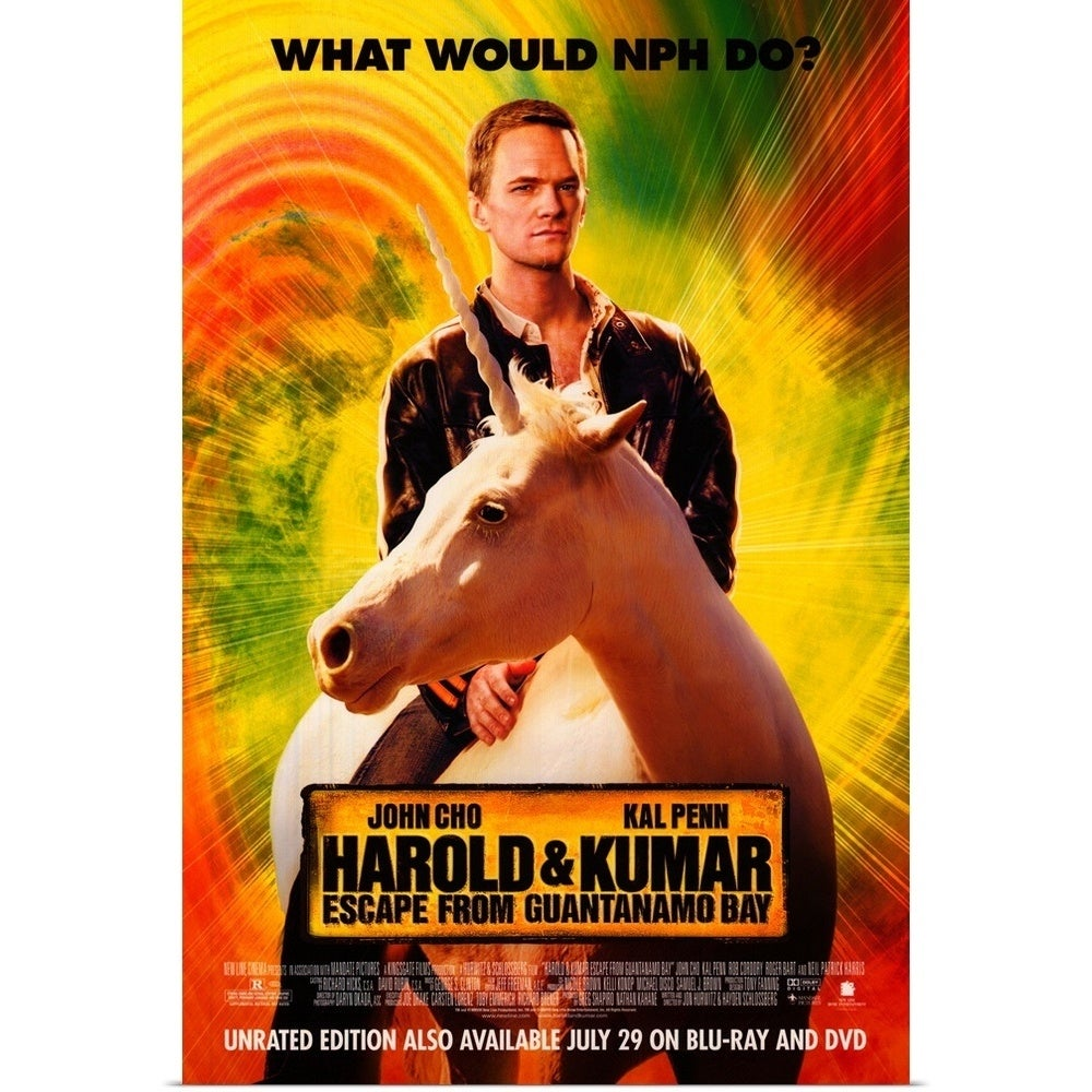 Harold And Kumar Escape From Guantanamo Bay Full Movie Free poster print entitled harold and kumar: escape from guantanamo bay (2008) - multi-color