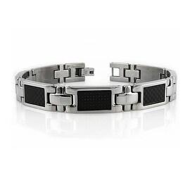 Titanium Bracelet w/ Carbon Fiber Inlay