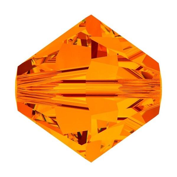 Swarovski Elements Crystal, 5328 Bicone Beads 3mm, 25 Pieces, Tangerine