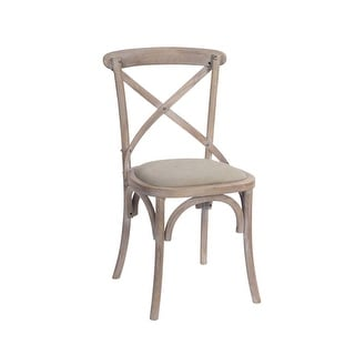 """Link to Set of 2 Brown Country Rustic Dusted Finished Padded Accented Wooden Chair 35"""" Similar Items in Dining Room & Bar Furniture"""