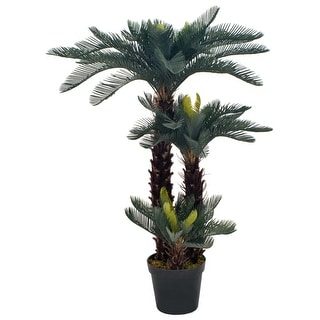 "Link to vidaXL Artificial Plant Cycas Palm with Pot Green 49.2"" Similar Items in Decorative Accessories"