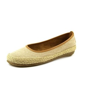 A2 By Aerosoles Rock Solid Women  Round Toe Canvas Brown Flats