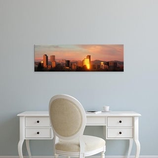Easy Art Prints Panoramic Images's 'Denver skyline' Premium Canvas Art
