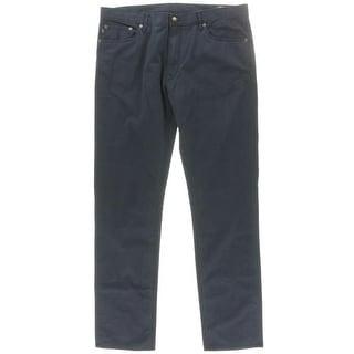 Polo Ralph Lauren Mens Aviator Varick Twill Mid-Rise Straight Leg Jeans