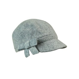 August Accessories Women's Wool Blend Applique Modboy Hat