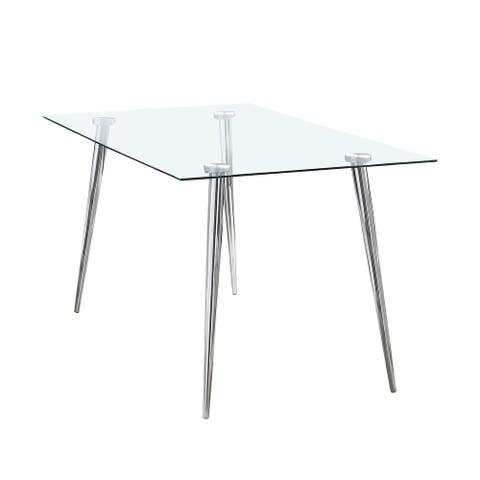 Gilman Rectangle Glass Top Dining Table