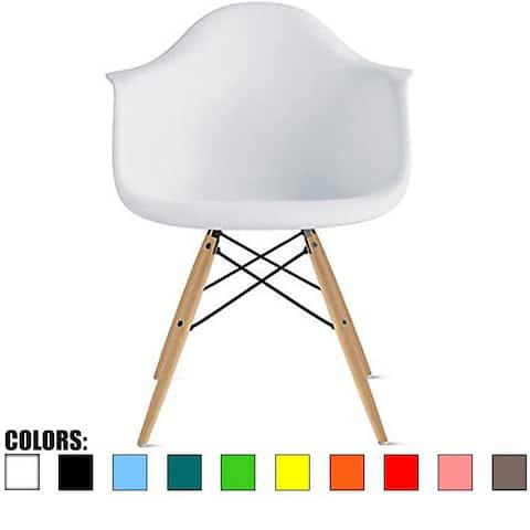 2xhome Plastic Dining Room Chair Desk Retro Designer Kitchen Natural Wood Legs Molded Shell Desk Eiffel Vintage Dowel DSW Office