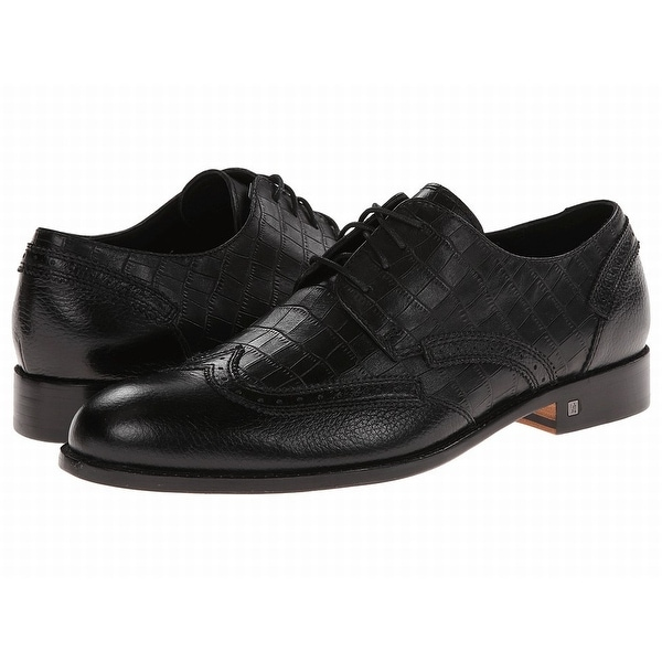 Bugatchi NEW Black Shoes Size 8.5M Oxfords Chopin Leather Formal