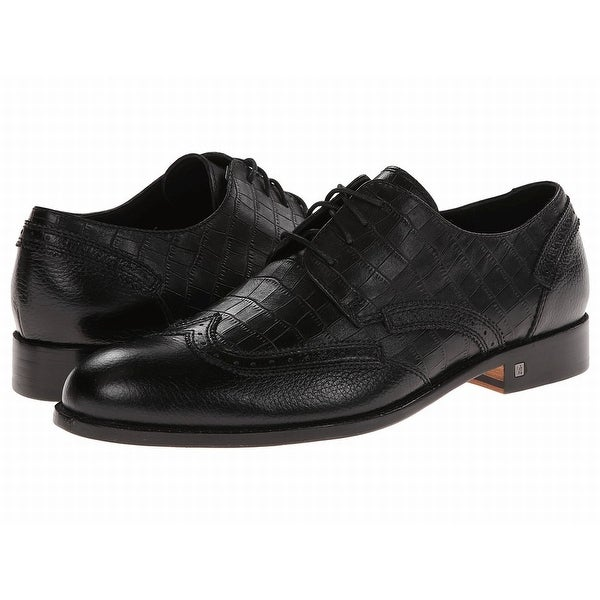 Bugatchi NEW Black Shoes Size 9M Oxfords Chopin Leather Formal