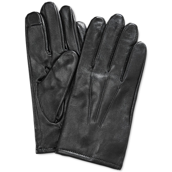 091f4e2bb Shop Club Room NEW Black Size Large L Touchscreen Conductive Leather Gloves  - Free Shipping On Orders Over $45 - Overstock - 20659265