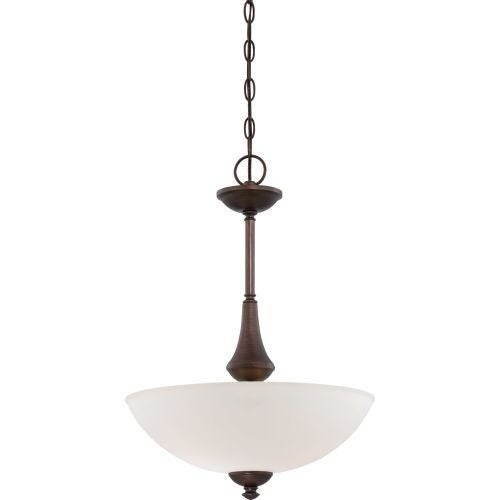 Nuvo Lighting 60/5158 Patton ES Three-Light Bowl Pendant with Frosted Glass Shade