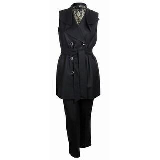 Nine West Women's Sleeveless Savannah Pant Suit - Black - 2