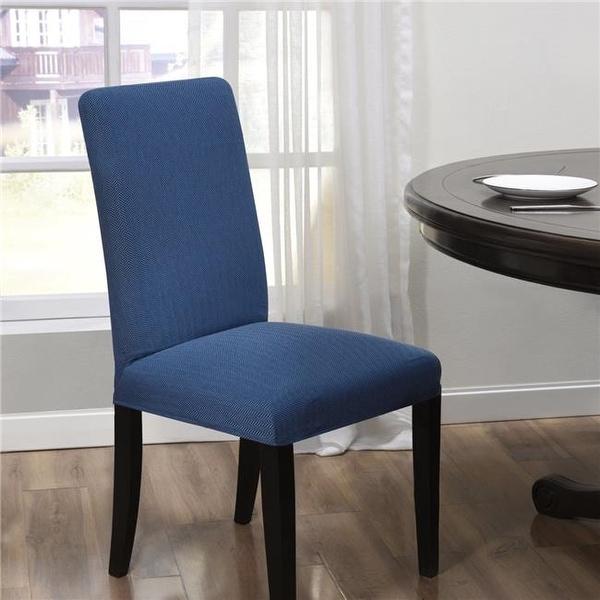 Shop Madison Kathy Ireland Santa Barbara Dining Room Chair Cover Blue