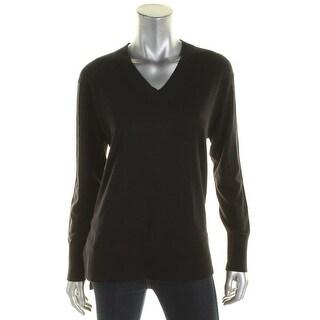 DKNY Womens V-Neck Sweater Wool V-Neck - s