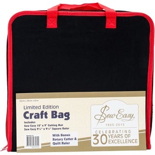 """Black & Red - Seweasy Project Carry Case 14.5""""X14.5"""""""
